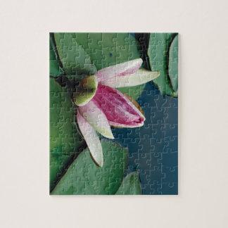 Foto-Puzzlespiel der Lotos-Blumen-8x10 mit Puzzle