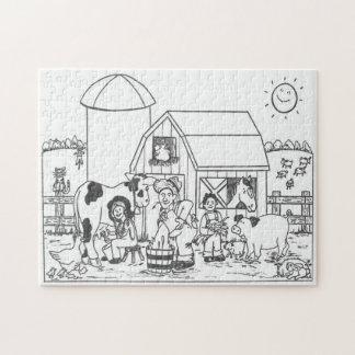 Foto-Puzzlespiel des Bauernhof-10x14 Puzzle