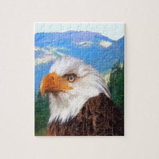 Foto-Puzzlespiel des kahlen Adler-8x10 mit Puzzle