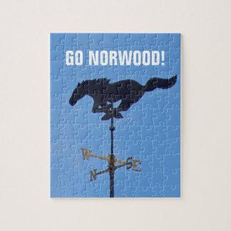 Foto-Puzzlespiel Norwood Mustang-8x10 mit Kasten Puzzle
