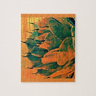 Foto-Puzzlespiel Sonoran Kaktus in der Orange Puzzle