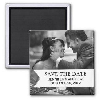 Foto-Save the Date Magnet (Schwarzweiss) Quadratischer Magnet