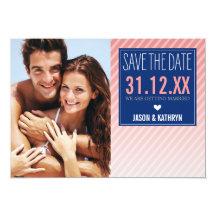 FOTO SAVE THE DATE ombre winklige Individuelle Einladungen