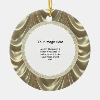 Foto-Schablone - metallisches Gold mit Rüschen Keramik Ornament