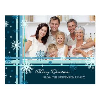 Foto-Schneeflocke-frohe Weihnacht-Postkarten Postkarte