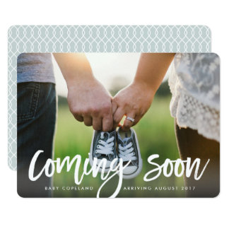 Foto-Schwangerschafts-Mitteilung der 12,7 X 17,8 Cm Einladungskarte