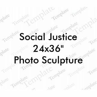 """Foto-Skulptur der Sozialgerechtigkeits-24x36"""" Acrylausschnitte"""