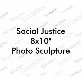 """Foto-Skulptur der Sozialgerechtigkeits-8x10"""" Foto Ausschnitt"""