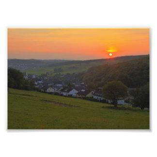 Foto Sonnenuntergang im Mittelgebirge