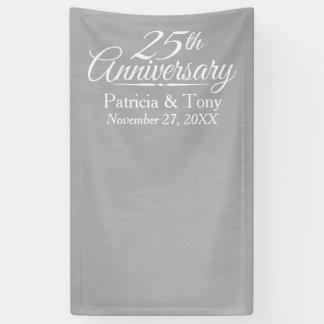 Foto-Stand-Hintergrund - 25. Hochzeits-Jahrestag Banner