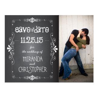 Foto-Tafel Save the Date, die Postkarte Wedding is