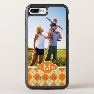 Foto-u. Monogramm-Strickjacke-Hintergrund OtterBox Symmetry iPhone 8 Plus/7 Plus Hülle