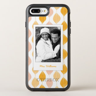 Foto u. Name goldenes Ogee Muster OtterBox Symmetry iPhone 8 Plus/7 Plus Hülle