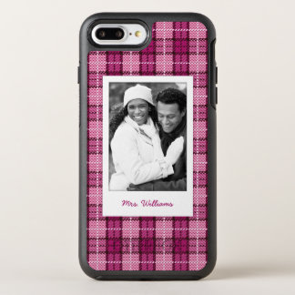 Foto u. Namen-Pixel Plaid_Magenta-Black OtterBox Symmetry iPhone 8 Plus/7 Plus Hülle