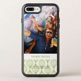 Foto u. Text grünes Ogee Muster OtterBox Symmetry iPhone 8 Plus/7 Plus Hülle