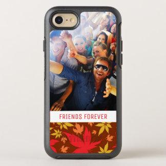 Foto u. Text mit buntem Herbst-Blätter OtterBox Symmetry iPhone 8/7 Hülle
