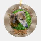 Foto-und Namen-personalisierte Keramik Ornament