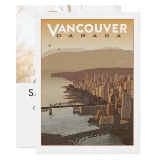 Foto Vancouvers Kanada | Save the Date - 14 X 19,5 Cm Einladungskarte