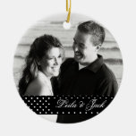 Foto-Verzierung mit Blumenentwurfs-an Rückseite Weihnachtsornament
