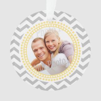 Foto-Verzierungs-Zickzack und gelbe Punkte Ornament