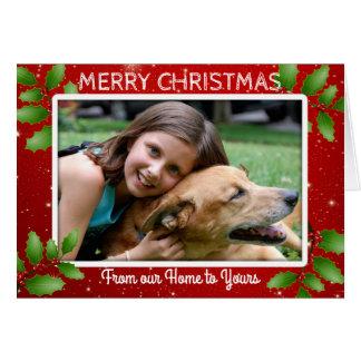 Foto-Weihnachten unser Zuhause zu Ihrem Mitteilung Karte