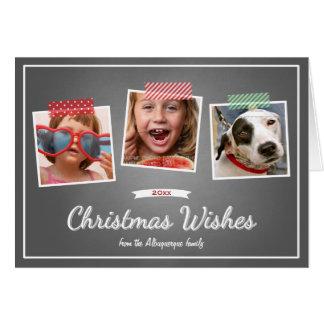 Foto-Weihnachten wünscht die gefaltete Karte