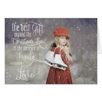 Foto-Weihnachtskarte mit Schnee-Überlagerung Karte
