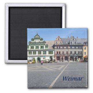 Foto Weimars Markt Quadratischer Magnet