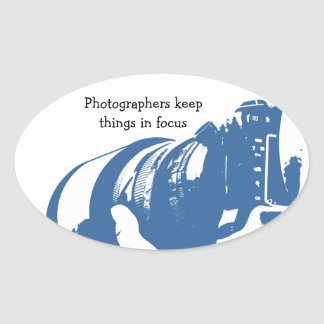 Fotograf-Aufkleber Ovaler Aufkleber