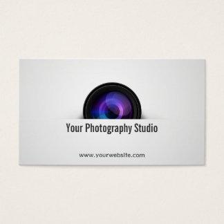 Fotograf-berufliches Kameraobjektiv Visitenkarte