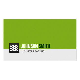 Fotograf - Bio grünes Weiß Visitenkarten