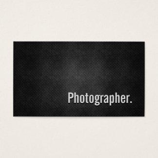 Fotograf-coole schwarze Metalleinfachheit Visitenkarte