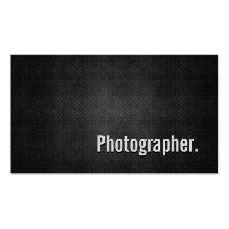 Fotograf-coole schwarze Metalleinfachheit Visitenkarten