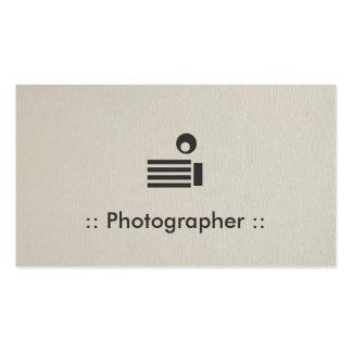 Fotograf-einfaches elegantes berufliches visitenkartenvorlagen