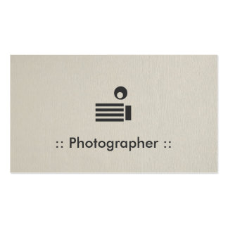 Fotograf-einfaches elegantes berufliches visitenkarten