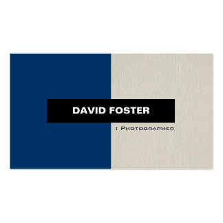Fotograf - einfaches elegantes stilvolles visitenkartenvorlage