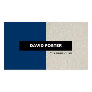 Fotograf - einfaches elegantes stilvolles visitenkarten