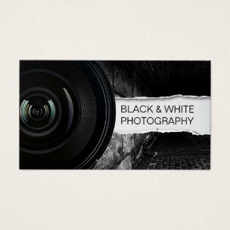 Fotograf-elegante schwarze u. weiße Fotografie Visitenkarte