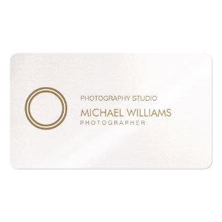 Fotograf - eleganter Professioneller weißes Symbol Visitenkarten