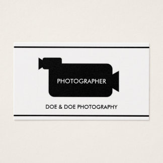 Fotograf-Filmemacher-Fotografie-Platin-Papier Visitenkarte
