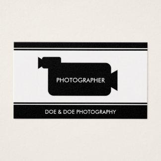 Fotograf-Filmemacher-Fotografie-Schwarzes/Gold Visitenkarte