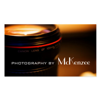 Fotograf Fotografie Kamera-Visitenkarte