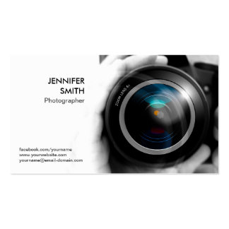 Fotograf-Fotoreporter-Kameraobjektiv-Studio Visitenkarten