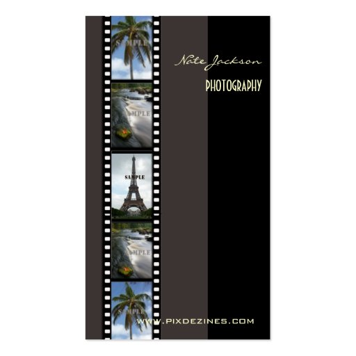 Fotograf-Fotoschablone/diy Schriftart Visitenkarten