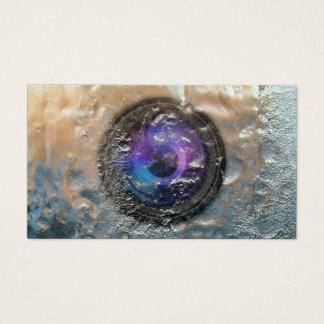 Fotograf gefrorene Kameraobjektiv-Fotografie Visitenkarte