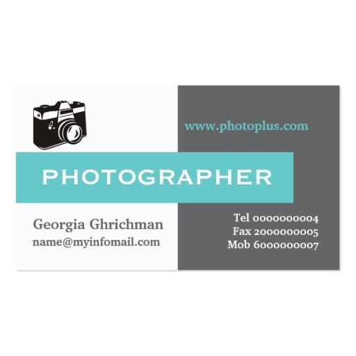 Fotograf grau, weiß, Blau ins Auge fallend Visitenkarten