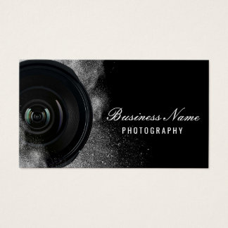 Fotograf-Kamera-schwarze u. weiße Fotografie Visitenkarte