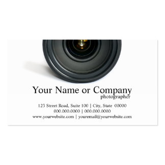 Fotograf-Kameraobjektiv-Visitenkarten