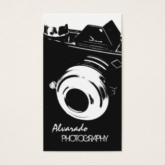 Fotograf-kreative Retro Schwarz-weiße Kamera Visitenkarten