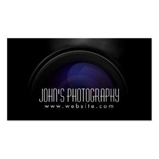 Fotograf-rauchendes Kameraobjektiv beruflich Visitenkarten